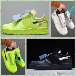 2019 leather lined running shoes Nike Air Hot Stock Force 1 Off Blau Weiß Rot Metallic Silber Herren Freizeitschuhe Volt 2.0 Low Schwarz und Grün Designer-Schuhe