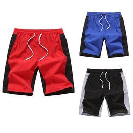 Partida rápida on-line-Homens Swim Shorts Na Altura Do Joelho Cor Correspondência de Estilo de Praia Quick Dry Elastic Na Cintura Aptidão Calções de Verão Ocasional