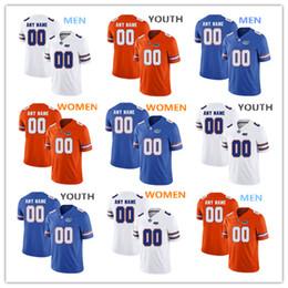 pietre arancioni Sconti Maglia NCAA Florida Gators Jean Delance 56 Stone Forsythe 72 Richard Gouraige 76 maglia UOMO DONNA GIOVENTÙ arancione blu Maglia da calcio bianca