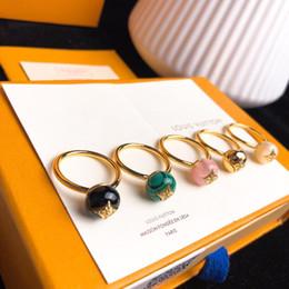 Quarz-achat online-B BLÜTEN 18 Karat Gold Achat Diamant Ring Luxus Designer Schmuck Frauen Ringe Verlobungsringe für Frauen 19 Mode Luxus-Accessoires Q9L99E