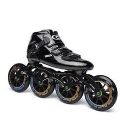 Speed Inline Skates Carbon Professionelle Rollschuhe Competition Skates 4 Wheels Racing Skating Patines Ähnliche Powerslide von Fabrikanten