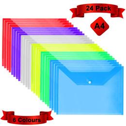 pastas para a escola Desconto Transparente Poly Envelope à prova d'água, cores de plástico Projeto Bolsa A4 Carta bolsos de pasta tamanho do arquivo para escola, casa, organização de escritório
