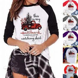 Женские рождественские блузки онлайн-Рождество рубашка Это моя визитная карточка рождественские фильмы Смотреть Письмо печати с длинным рукавом футболки Женщины Повседневная блузка топ тройники S-3xl A112001