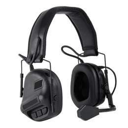 Тактическая гарнитура охота Airsoft наушники CS съемка гарнитура защита уха наушники без звука подобрать функцию шумоподавления от