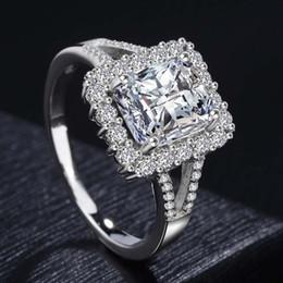 anel de casal de ouro branco de 14k Desconto Top de luxo gemstone anel de moda feminina 925 anel de prata esterlina homens e mulheres casal anel 14 K broche de ouro branco