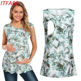 vestiti per l'allattamento Sconti HOT Abbigliamento premaman stampato allattamento cucito allattamento top tunica allattamento allattamento t-shirt tee shirt camicetta
