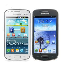 Telefone s7562 on-line-Original desbloqueado Samsung Galaxy S Duos S7562, telefones celulares, 4.0 '' tela 3G WIFI GPS 5MP 4 GB Dual Sim telefone recondicionado