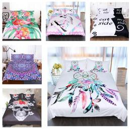 2019 set di biancheria da unicorno Biancheria da letto king size Set 3d India Mandala Unicorn Set di biancheria da letto di lusso Copripiumino Twin Completo Queen Queen Copripiumino Set Biancheria da letto Forniture