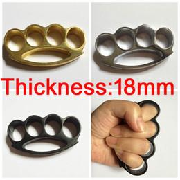Aço inoxidável on-line-1pc Grosso e 18 milímetros pesados de aço de junta de bronze ESPANADORES CURVATURA defender-se poderosa fecho de mão Auto-defesa Prático para transportar fox