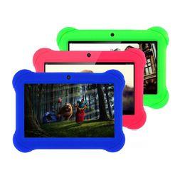 китай компьютера пк Скидка 7-дюймовый четырехъядерный планшет Q88h All-in A33 Android 4.4 Wi-Fi Интернет Bluetooth 512 МБ + 4 ГБ Удобный