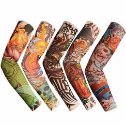 Handschuhe armlinge online-Heißer Verkauf 1 stück Schmerzlos Totem Sommer Sonnencreme Frauen Männer Armmanschette Sonnenschutzhandschuhe Ice Silk Tattoo Sleeves Warmers Oversleeve