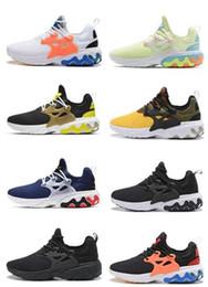 2019 linha de caminhada 2019 streetwear esportes homens mulheres Preste React Running Shoes, sapatilha de treinamento, moda andando ginásio sapatos de corrida, lojas on-line para venda linha de caminhada barato