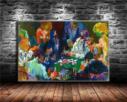 2019 dipinti ad olio femminile International Poker, Canvas Painting Living Room Home Decor Pittura a olio moderna di arte murale