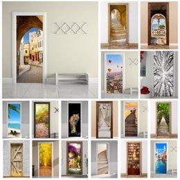 3D Kapı Duvar Dolabı Sticker Çıkartmaları Kendinden Yapışkanlı Duvar Manzara Kumaş Ev Dekorasyonu nereden