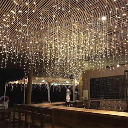 grandi sacchetti di santa all'ingrosso Sconti La stringa del ghiacciolo della tenda del LED del nuovo anno accende 5m 16.4ft Droop 96Led Fairy Garland Light per la decorazione di Natale all'aperto
