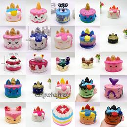 juguetes de yiwu Rebajas Squishy Cute Pink Unicorn Toys 11CM Coloridos dibujos animados Unicorn Cake Cake Tail Cakes Kids Fun Gift Squishy Slow Rising Kawaii Squishies