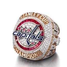 Campeões anéis on-line-Designer de jóias campeão anéis NHL hóquei no gelo capital fãs em anéis de campeão de Washington para as mulheres de moda quente