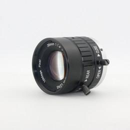 C montagem lentes on-line-10MP 35mm HD Industrial Câmera Fixa Manual IRIS Foco Zoom Lens C Montagem de Lente de CCTV para Câmera de CCTV Microscópio Industrial