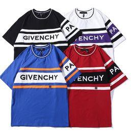 moda mulheres verão esporte roupas Desconto Moda de Alta Qualidade Europa Paris Verão Autêntico T-shirt Top Das Mulheres Dos Homens de Roupas de Algodão Esporte T Camisa Ocasional