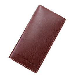 organizador de tarjetas de visita de cuero Rebajas Hombre Monedero Hombre Monedero Titular de la tarjeta de crédito empresarial Organizador de cuero Bolsos Embrague Carteira 2019 Regalos Nuevo