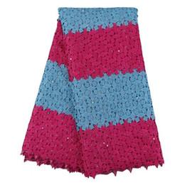 H05 combinaison des deux gros tissu de dentelle Guipure, dentelle de cordon africain de haute qualité pour la robe de soirée, tissu de dentelle soluble dans l'eau! ? partir de fabricateur
