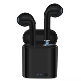 Новый i7S TWS Беспроводные Bluetooth-наушники Bluetooth-гарнитуры Наушники Беспроводные наушники с зарядкой Box Mic для Android IOS от