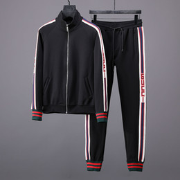 9d14cc3dbef 2018 new spring and fall luxury mens new designer Italy VER tracksuits high  quality sweatsuit ~ mens training jogging sweat track suits
