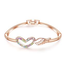 freundin geburtstag armband silber Rabatt Silber Armband weibliche koreanische Version der einfachen Persönlichkeit Mori Student Love Wings Freundinnen Schmuck Geburtstagsgeschenk