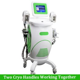 cryo laser Coupons - 2 Cryo Handles Cool Body Shaping Cryolipolysis Slimming Machine Cavitation RF Lipo Laser Fat Freeze Anti Cellulite treatment