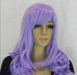 ordentliche ponyperücke Rabatt Perücke geben Verschiffen Cosplay neue Perücke lange purpurrote ordentliche Knallperücke / -perücken des lockigen Haares frei