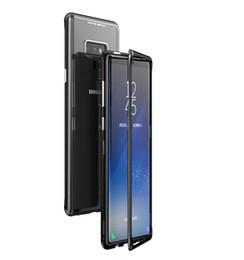 Caja de cristal moderada transparente de la adsorción magnética delgada para el Samsung Galaxy S9 S9 + S8 S8 + Nota 9 Nota 8 S7 S7 Edge desde fabricantes