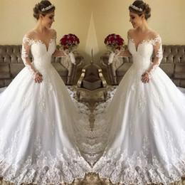 b82b01350850e Discount t shirt turkey - elegant turkey modest country wedding dresses long  sleeves bottom appliques lace