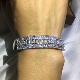 chaîne bracelet en diamant Promotion Femmes Bracelet De Mode Bijoux 925 En Argent Rempli Complet Diamonique CZ Bracelets De Fiançailles De Mariage Bracelet Pour La Fête Cadeau Nouvelle Arrivée
