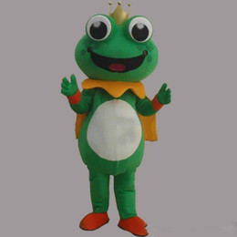 Costumi della mascotte della rana online-2019 Alta qualità caldo Super Hot Frog Prince Mascot Costume Fancy Dress EPE