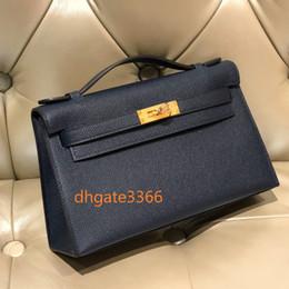 carteras importadas Rebajas diseño de lujo Monedero del bolso señoras de la manera KL1 EPSOM alemán importado de becerro de alta calidad hecha a mano hecha a mano completa