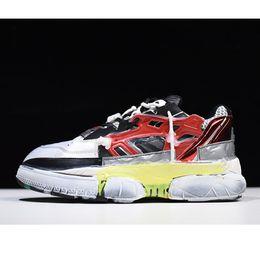 2019 margiela leder Neuerscheinung Maison Margiela Fusion Sneakers Liebhaber Papa Schuhe Distressed Leder Mesh Sneakers Europäische Größe 35-44 günstig margiela leder