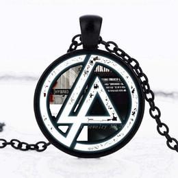 Colgante linkin park online-2017 Moda Caliente Linkin Park logo Colgante Linkin Park Joyería Collar de Cristal Colgante de la Cúpula Hombres y niños regalos de fiesta