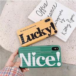 Casos móveis engraçados on-line-S18 caso do telefone móvel curvo mala carta engraçado tendência de alta qualidade moda mobile phone case para iphone X XR XSMAX