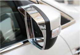 дверные зеркала Скидка Хромированная крышка бокового зеркала двери Дождь Снег Гвардия Козырек Обшивка литьевой гарнир Для Ford Escape Kuga Ecosport