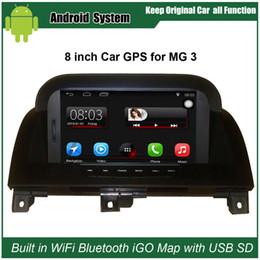 Navegação gps original on-line-Atualizado Suit Original Car Radio Player para Garagens Morris MG3 MG 3 Car Video Player construído em WiFi GPS Bluetooth de navegação