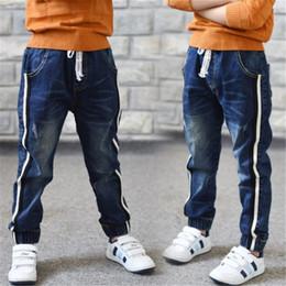 Canada 2019 Automne Nouveaux Enfants Jeans Taille Élastique Stretch Denim Pants Enfants Vêtements Casual Pour 4-14 ans Grande Vierge Coréenne Pantalon Pieds cheap elastic waist jeans for children Offre
