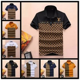 bc065a6fd86b7 wide plaid clothing Promo Codes - 2019 brand Luxury Italy Tee T-Shirt  Designer Polo