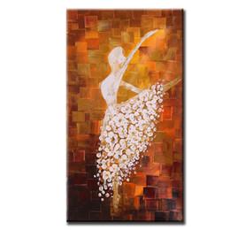 Óleo, pintura, dançarino, abstratos on-line-60 * 120 cm Sem Moldura Pintados À Mão Pintura A Óleo Abstrata Ballet Dancer Imagem Pintura Da Lona Arte Da Parede para Sala de estar Decoração