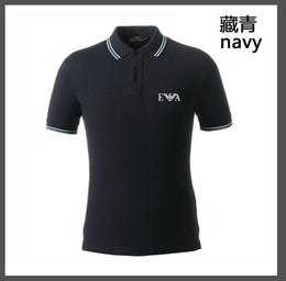 Europäische polohemden online-Poloshirt für Herren, Revers, Kurzarm, europäisches und amerikanisches dünnes POLO-Hemd für Herren. Exquisite Stickerei, Stretch-Kragen.