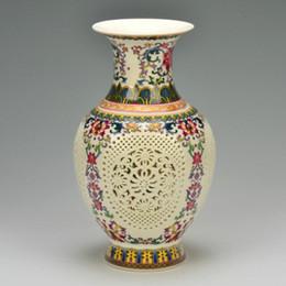 2019 chinesisch geschnitzte vase archaize chinesischer hochwertiger Stoßzahn Porzellanvase Handgeschnitzte Gemälde günstig chinesisch geschnitzte vase
