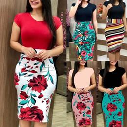 beste sommer maxi kleider Rabatt 2019 heißer Verkauf Sommer einteiliges Kleid Bodycon Floral bedruckte Kurzarm Maxi-Kleid für Damen KA-BEST
