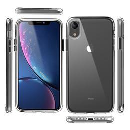 Caja de teléfono transparente online-Para iphone 6 7/8 plus xr xs max Funda transparente para lg stylo 5 k40 aristo 3 plus tpu acrílico transparente