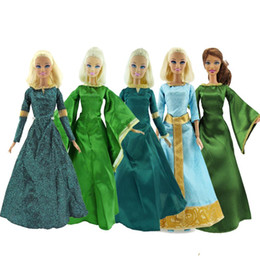 muñecas barbie clásicas Rebajas Lot Copy Melinda Princess Dress Retro Vintage Classic Cartoon Partido Verde vestido de bola de la muñeca Accesorios Ropa para Barbie Doll Toy