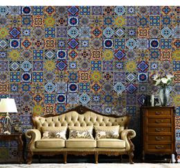 Foto di fiori astratti online-Il più nuovo 3D Europe Flower Photo Wall sticker da parete in carta 8d Abstract WallPaper Brick paper Per soggiorno Decorazioni per pareti
