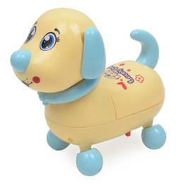 2018 enfants chien jouet éclairage musique marche électrique chien dessin animé flash rampant simulation plomb corde mignon chien ? partir de fabricateur